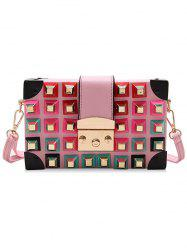 Mini Rivet Punk Rainbow Crossbody Bag -