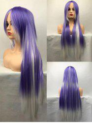 Long Side Bang Straight Colormix Cosplay Synthetic Wig -