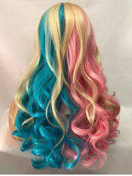 Long Center Parting Colormix Wavy Cosplay Party Synthetic Wig -