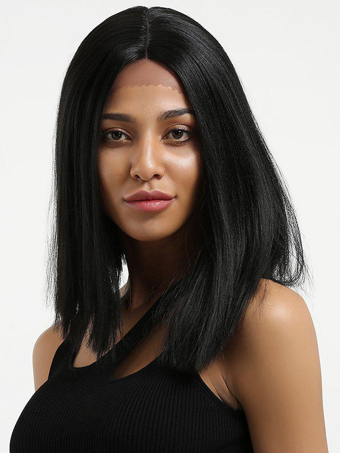 Outfits Medium Center Parting Straight Lace Front Synthetic Wig