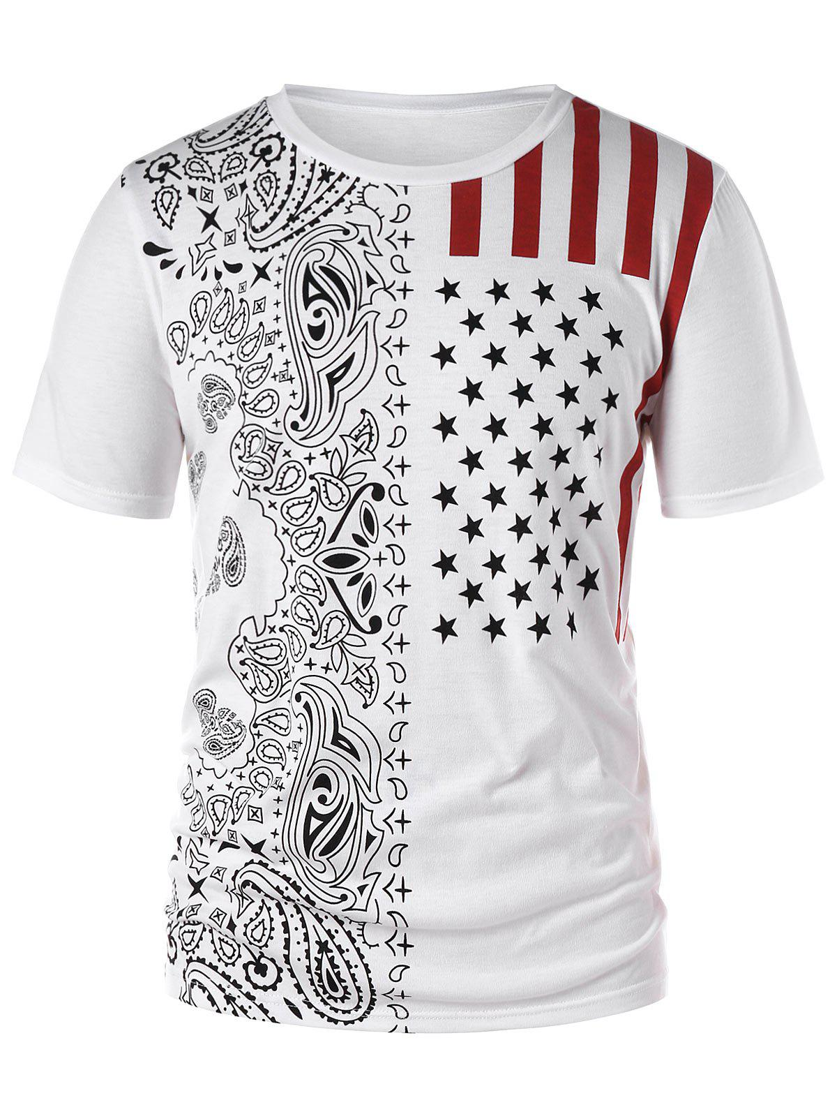 Shop Short Sleeve American Flag T-shirt