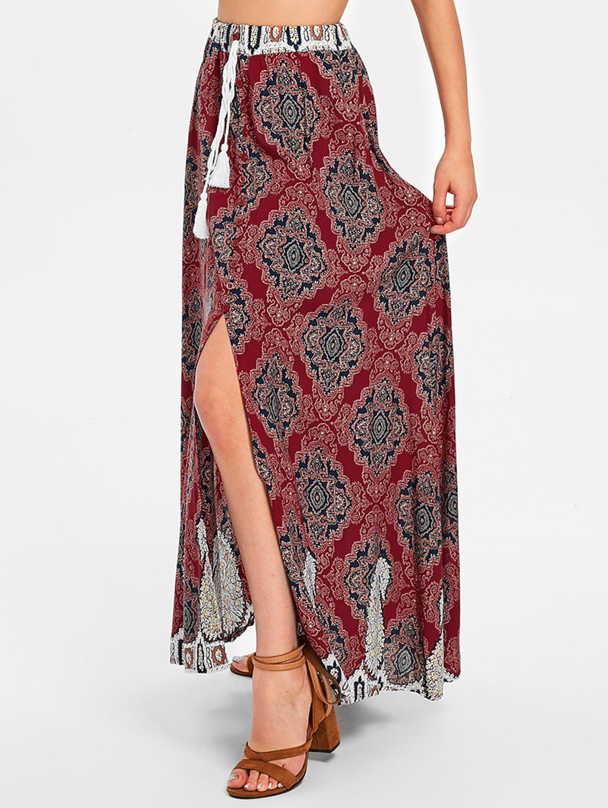 Trendy Long Bohemian Skirt with Slit