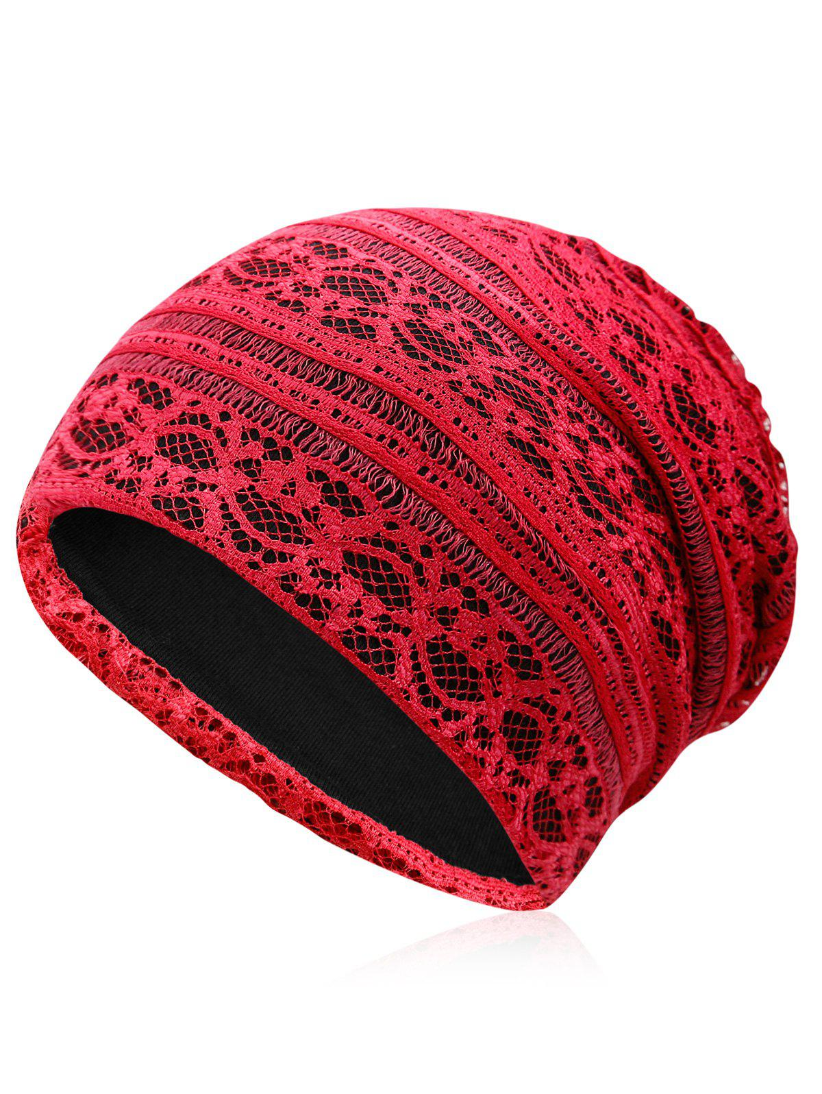 Latest Lightweight Soft Lace Slouchy Beanie
