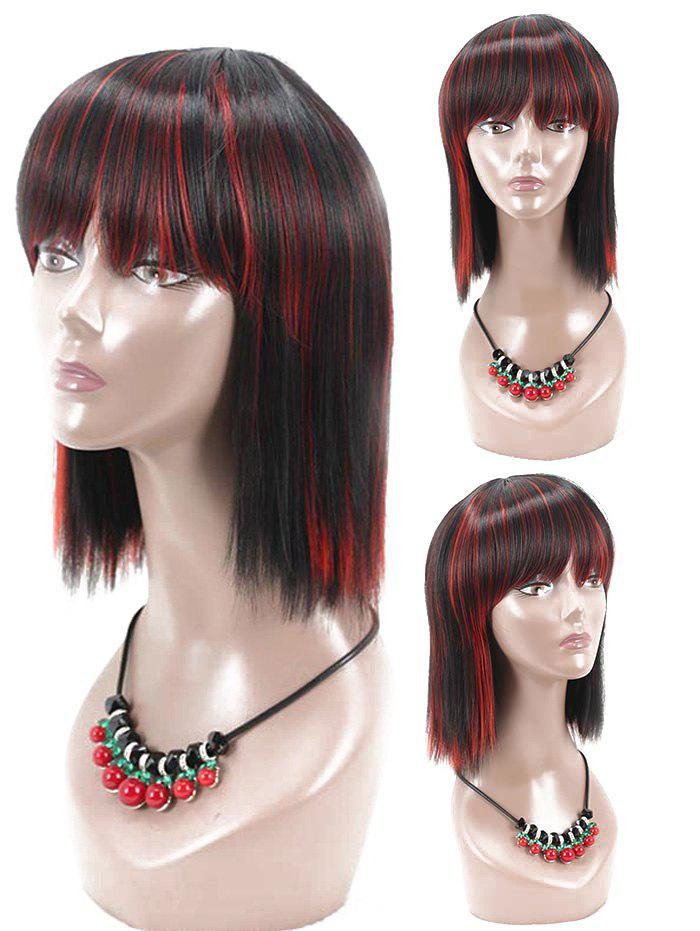 Shop Short Full Bang Straight Colormix Cosplay Party Synthetic Wig
