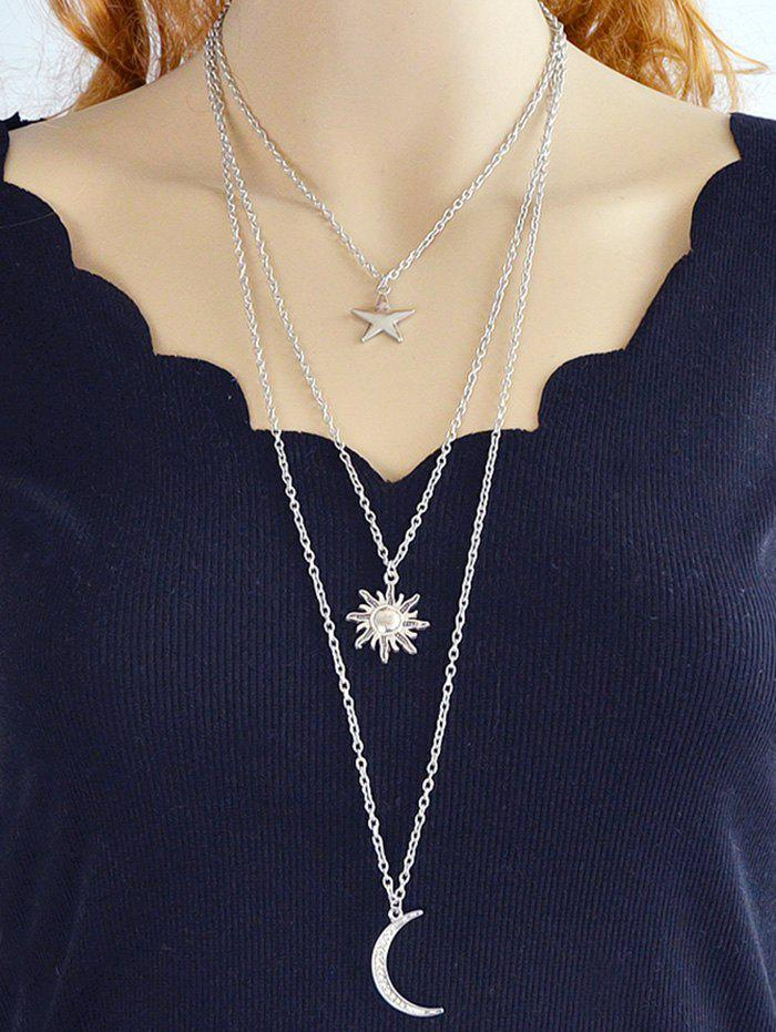 8add6afc50 25% OFF] Alloy Sun Moon Star Layered Pendant Necklace | Rosegal