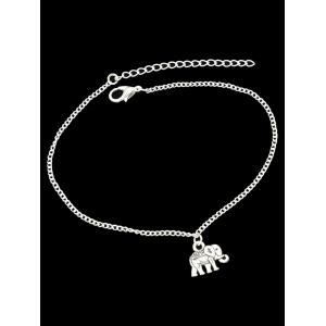 Alloy Charm Elephant Chain Anklet -
