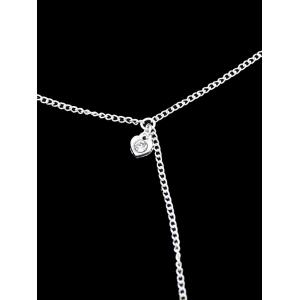 Rhinestone Heart Slave Chain Anklet -