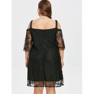 Plus Size Cold Shoulder Lace Dress -