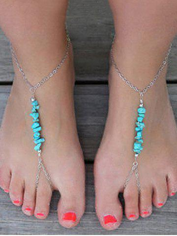 Chic 1PC Faux Turquoise Slave Chain Anklet