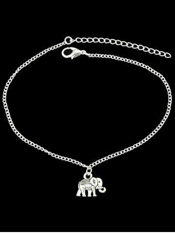Outfits Alloy Charm Elephant Chain Anklet