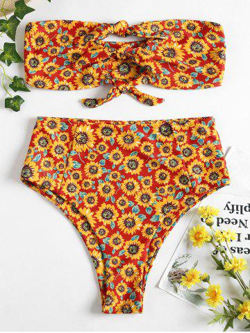 Outfit Strapless High Rise Sunflower Swimsuit