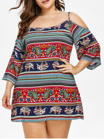 Fashion Plus Size Tribal Elephant Cami Dress