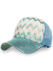 Outdoor Sequins Wave Mesh Sunscreen Hat -