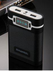 LED Display Double USB Rechargeable Battery Power Bank Shell Box -