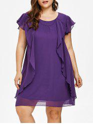 Plus Size Ruffle Tunic Dress -