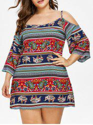 Plus Size Tribal Elephant Cami Dress -