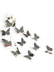 12 Pcs 3D Mirror Butterfly Wall Art Stickers -