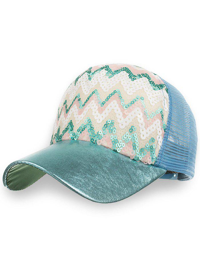 Store Outdoor Sequins Wave Mesh Sunscreen Hat