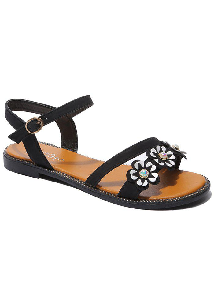 98768bbe7983f4 ... Hot Flat Heel Leisure Ankle Strap Sandals reasonably priced ac12b 1b3df  ...