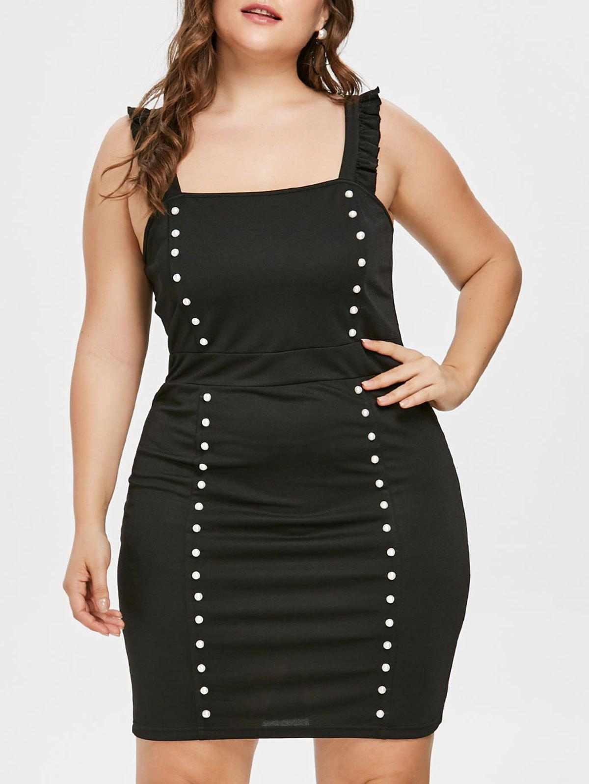 Sale Plus Size Flounce Bodycon Club Dress