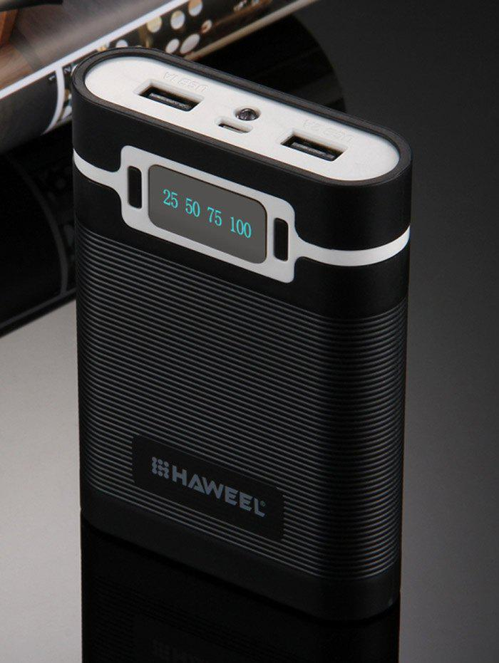 Hot LED Display Double USB Rechargeable Battery Power Bank Shell Box