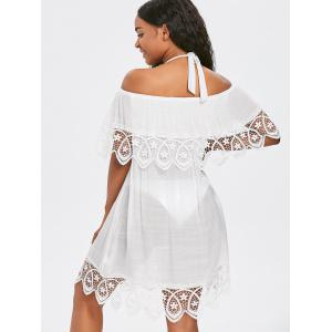 Lace Crochet Summer Cover Up Dress -