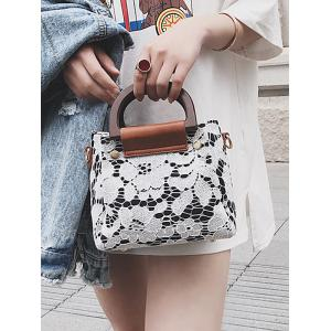 Flower Lace Top Handle Crossbody Bag -