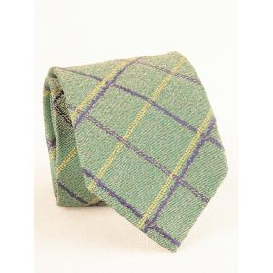 7CM Width Checked Pattern Business Tie and Bowtie -