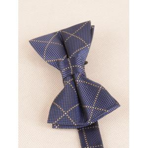 7CM Width Plaid Pattern Shirt Tie and Bowtie Set -