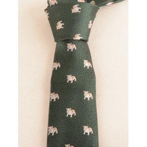 Unique Puppy Dog Printed Necktie Bowtie and Handkerchief -