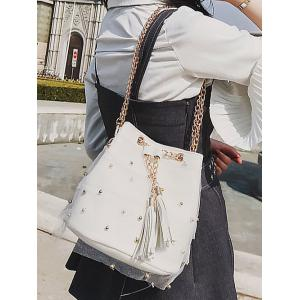 Chain PU Leather Lace Chic Crossbody Bag -