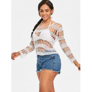 Pullover Beading Crochet Cover Up -