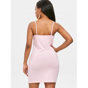 Eyelet Lace Up Bodycon Dress -