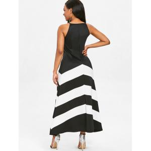 Color Block Sleeveless Longline Dress -