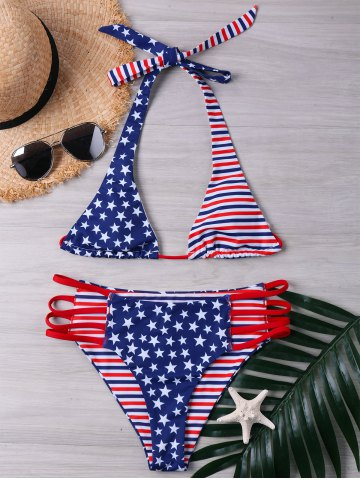 High Cut American Flag Bikini Set