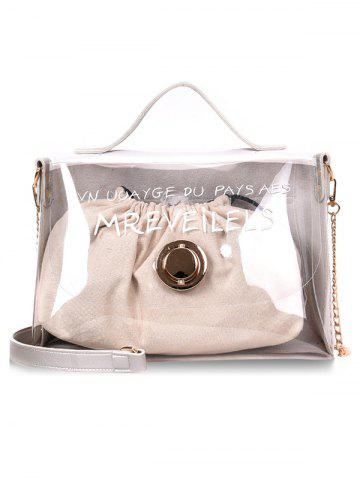 Hot Clear String 2 Pieces Jelly Crossbody Bag Set