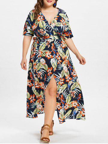 Buy Empire Waist Plus Size Holiday Maxi Slit Dress