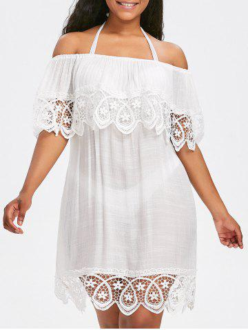 Affordable Lace Crochet Summer Cover Up Dress