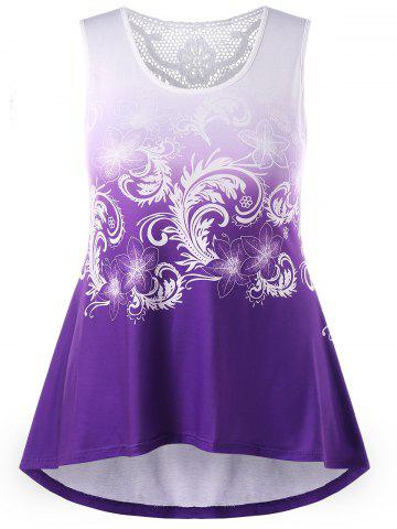f6973ddecae Plus Size Floral Ombre Tank Top