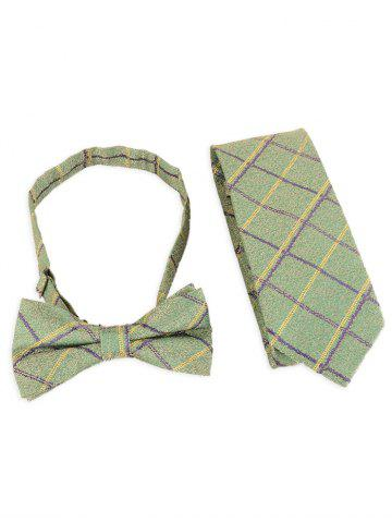 Hot 7CM Width Checked Pattern Business Tie and Bowtie