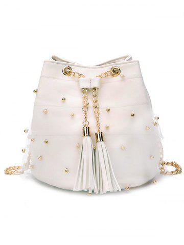 Outfit Chain PU Leather Lace Chic Crossbody Bag