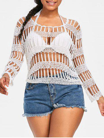 Shops Pullover Beading Crochet Cover Up