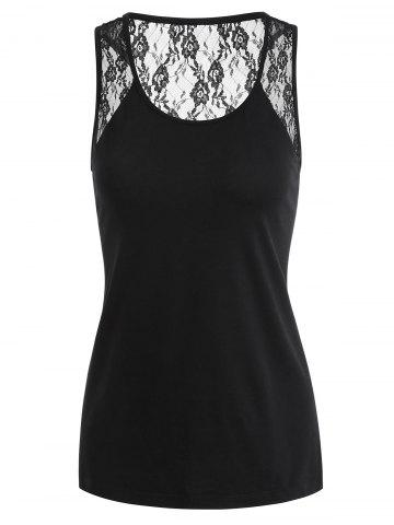 Latest See Through Lace Panel Tank Top
