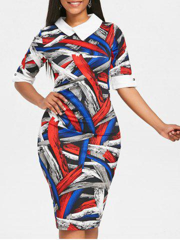 Store Painting Color Block Bodycon Dress