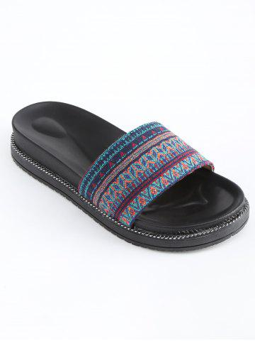 Latest Patchwork Platform Leisure Slides