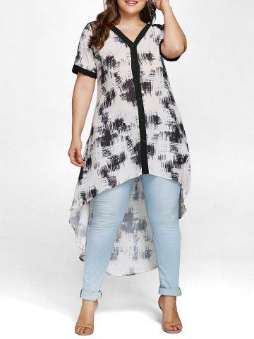 Latest Plus Size High Low Blouse with Lace