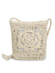 Retro Flower Braid Crossbody Bag -