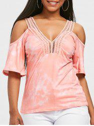 Empire Waist Cold Shoulder T-shirt -