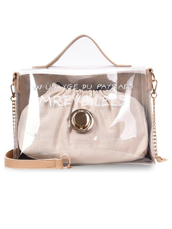 New Clear String 2 Pieces Jelly Crossbody Bag Set