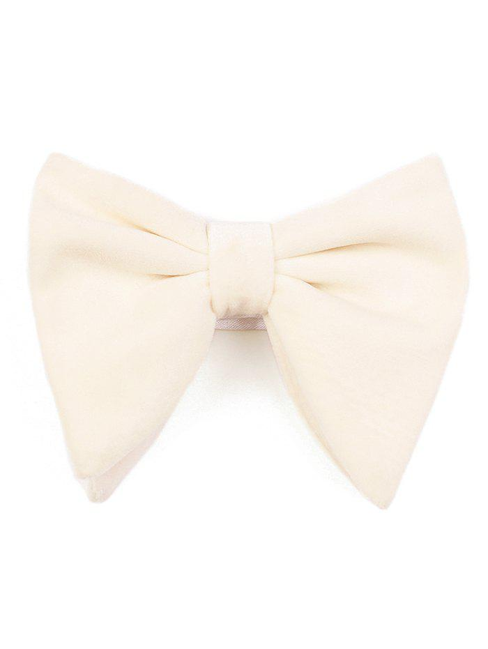 Outfits Solid Color Adjustable Pre-tied Shimmer Corduroy Bow Tie